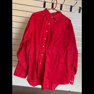 Mens Red IZOD 17 1/2 34/35 XLARGE Shirt